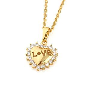 18k gold plating brass cubic zirconia pendant blue topaz earring fashion jewelry