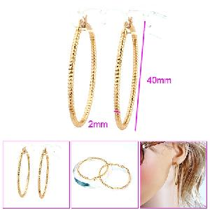 18k gold plating brass hoop earring ring pendant bracelet fashion jewelry cz