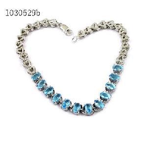 925 silver blue topaz bracelet jadeite pendant sapphire earring ruby ring