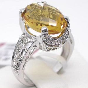 925 silver citrine ring sapphire olivine necklace blue topaz gem stone jewelry