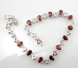 925 silver garnet bracelet blue topaz prehnite olivine ring earring
