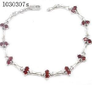 925 silver garnet bracelet blue topaz pendant sapphire earring amethyst ring