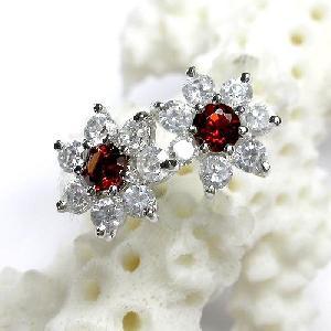 925 silver garnet earring blue topaz ring olivine prehnite pendant