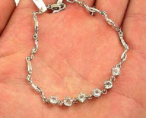 925 silver gem bracelet blue topaz citrine olivine earring fashion jewe