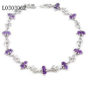 925 silver amethyst bracelet garnet pendant sapphire earring ring
