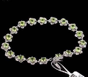 925 silver olivine bracele pendant earring sapphire ring jade brace