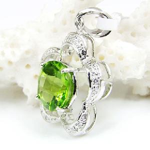 925 silver olivine pendant amethyst earring ring bracelet