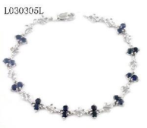 925 silver sapphire bracelet blue topaz amethyst earring penda