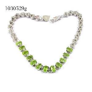925 silver olivine bracelet blue topaz citrine jade ring