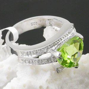 925 silver olivine ring blue topaz earring sapphire moonstone