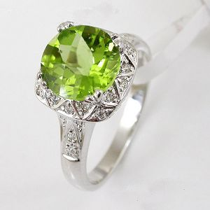 925 silver olivine ring necklace blue topaz gem stone