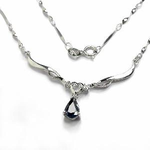 925 silver sapphire pendant blue topaz necklace amethyst ring jewelry