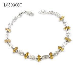 925 silver topaz bracelet blue pendant sapphire earring stone ring