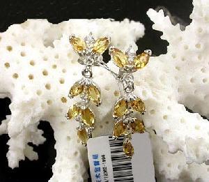 925 silver topaz drop earring blue ring olivine pendant sapphire bracelet