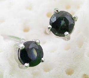 925 silver sapphire stud earring blue topaz ring prehnite pendant