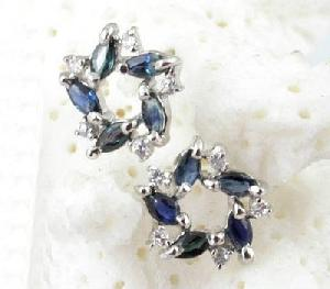 925 silver sapphire stud earring olivine necklace amethyst bracelet agate ring