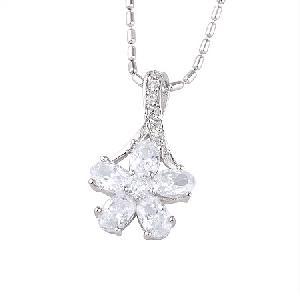 rhodium plated brass cz pendant fashion jewelry tourmaline ring moonstone