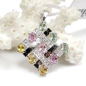 sterling silver gemstone pendant ruby ring k gold brass cz jewelry