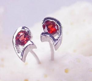 sterling silver garnet stud earring amethyst olivine sapphire bracelet cz jewelry