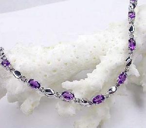 sterling silver amethyst bracelet 14kgold ring gem stone jewelry
