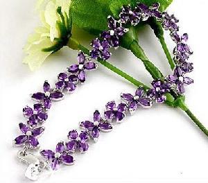 sterling silver amethyst bracelet olivine earring tourmaline ring blue topaz pendant