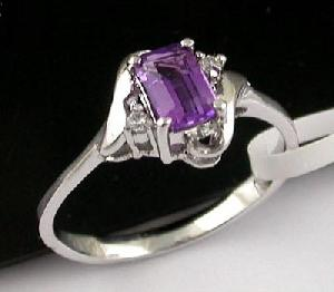 sterling silver amethyst ring ruby earring tourmaline prehnite pendant