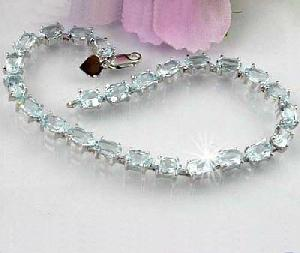 sterling silver blue topaz bracelet sapphire ring citrine tourmaline earring