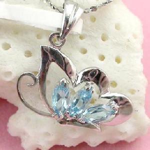 sterling silver blue topaz pendant olivine ring tourmaline citrine
