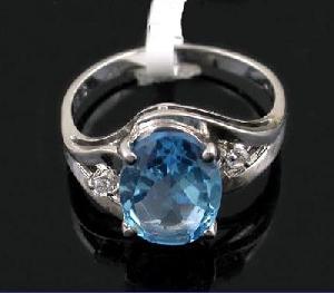 sterling silver blue topaz ring amethyst citrine earring sapphire bracelet