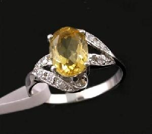 sterling silver citrine ring cz jewelry blue topaz agate sapphire ruby
