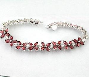sterling silver garnet bracelet amethyst earring tourmaline ring citrine pendant