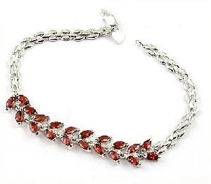 sterling silver garnet bracelet amethyst ring jadeite earring sapphire pendant