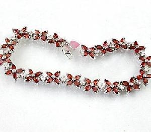 sterling silver garnet bracelet blue topaz olivine sapphire earring ring
