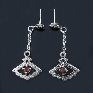 sterling silver garnet earring tourmaline ring citrine necklace prehnite bracelet