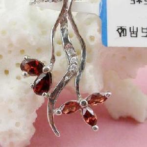 sterling silver garnet pendant tourmaline olivine amethyst bracelet ring necklac