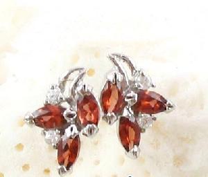 sterling silver garnet stud earring citrine necklace olivine bracelet