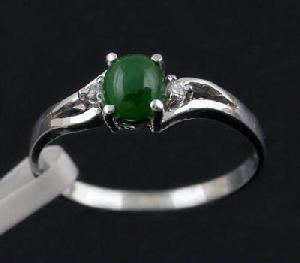 sterling silver jadeite ring jewelry gem ruby earring