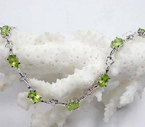 sterling silver olivine bracelet tourmaline ring prehnite jadeite
