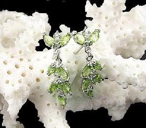 sterling silver olivine drop earring moonstone ring jadeite