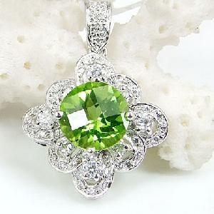 sterling silver olivine pendant blue topaz ruby sapphire amethyst ring earring