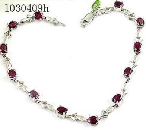 sterling silver ruby bracelet 18kgold ring gem stone jewelry