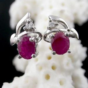 sterling silver ruby earring cz jewelry tourmaline rainbow stone ring