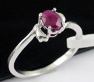 sterling silver ruby ring jewelry 18kgold gem