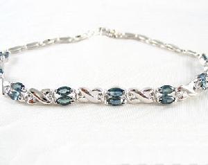 sterling silver sapphire bracelet garnet earring ruby ring pendant