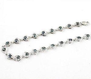 sterling silver sapphire bracelet moonstone ring blue topaz earring olivine jewelry