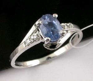 sterling silver sapphire ring 18kgold earring gem stone bracelet