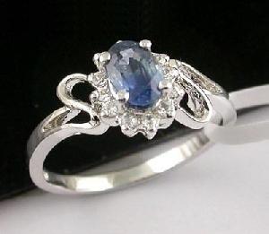 sterling silver sapphire ring blue topaz pendant olivine bracelet