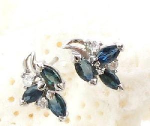 sterling silver sapphire stud earring citrine ring olivine bracelet