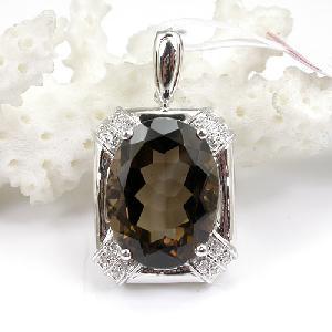 sterling silver smoky quartz pendant amethyst olivine earring sapphire jewelry