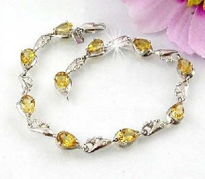 sterling silver topaz bracelet amethyst blue olivine sapphire ring